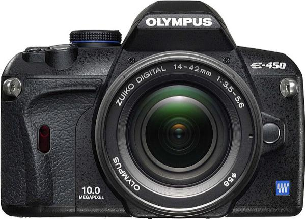 Olympus E-450 Actual Size Image
