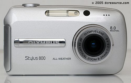 Olympus Stylus 800 Actual Size Image