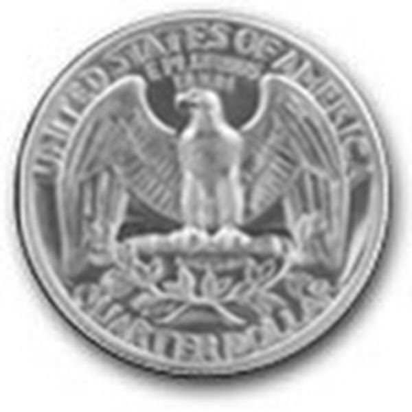 Original Washington Quarter Reverse  Actual Size Image