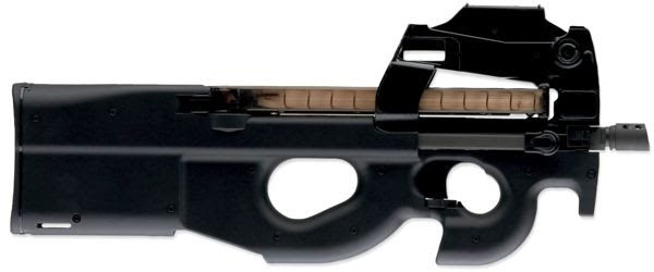P90 sub machinegun Actual Size Image