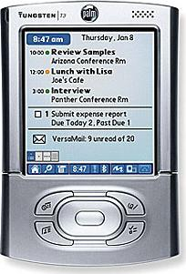 Palm Tungsten T3 Actual Size Image