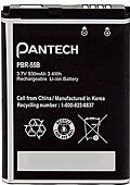 Pantech PBR-55B Cell Phone Battery Actual Size Image