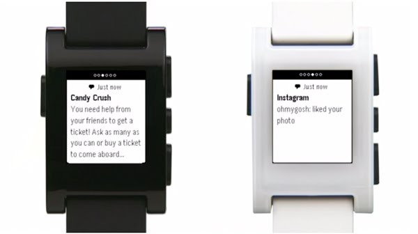 Pebble Smartwatch Actual Size Image