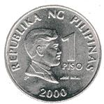 Philippine one peso coin Actual Size Image