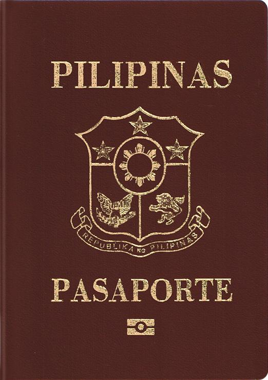 Philippine passport Actual Size Image