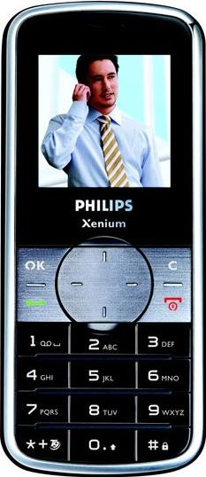 Philips Xenium 9@9f Actual Size Image