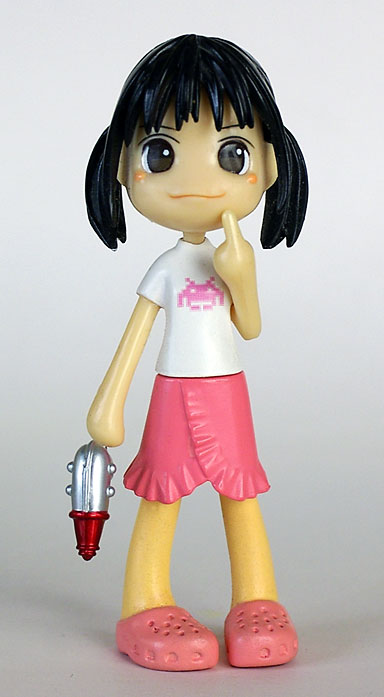 Pinky:st geek Yoshiko in clogs with ray gun Actual Size Image