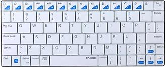 Rapoo E6300 keyboard Actual Size Image