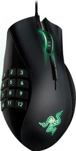 Razer Naga 2012 gaming mouse Actual Size Image