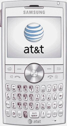 Samsung BlackJack II Pink Smartphone (AT&T) Actual Size Image