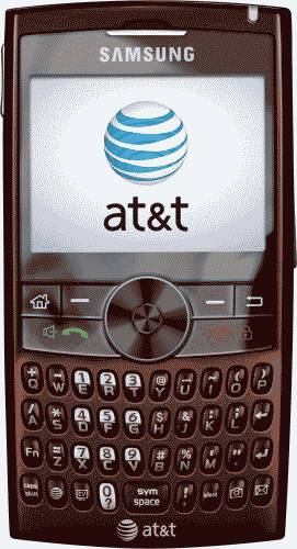 Samsung BlackJack II Red Wine Smartphone (AT&T) Actual Size Image
