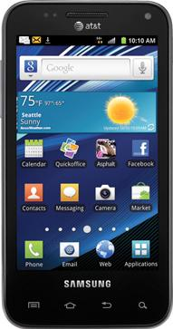 Samsung Captivate Glide Actual Size Image