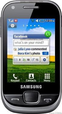 Samsung Champ S3770 Actual Size Image
