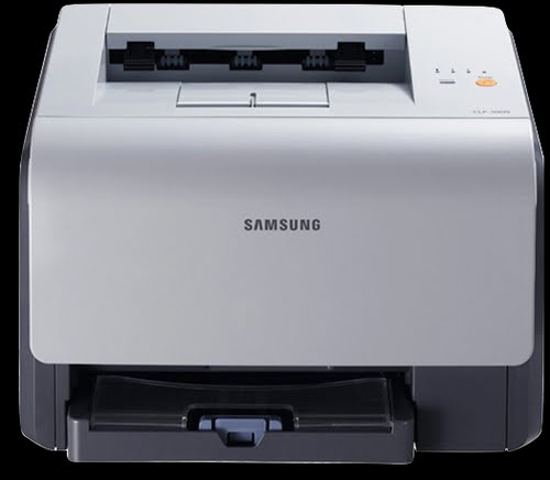 Samsung CLP 300 Actual Size Image