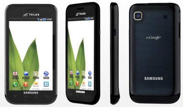 Samsung Fascinate 3G+ From Telus Actual Size Image