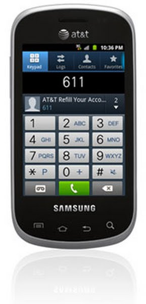 Samsung Galaxy Appeal I827 Actual Size Image