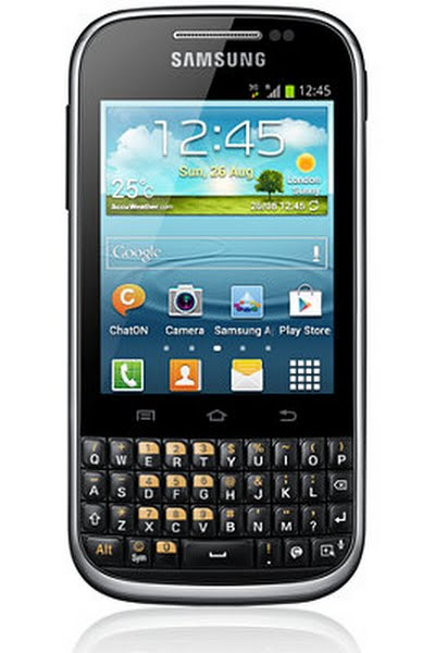 Samsung Galaxy Chat B5330 Actual Size Image