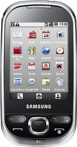 Samsung Galaxy i5500 Corby Actual Size Image