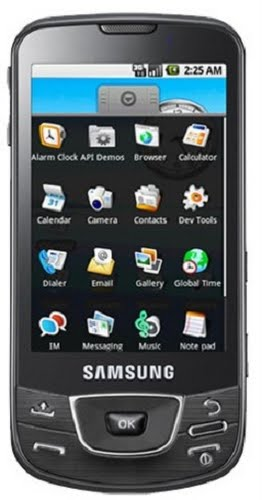 Samsung Galaxy i7500 Actual Size Image