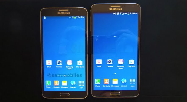 Samsung galaxy note 3 neo Actual Size Image