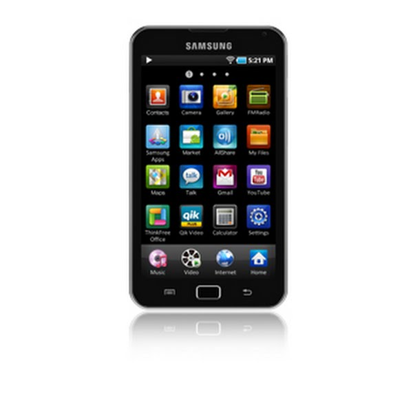 Samsung Galaxy Player Actual Size Image
