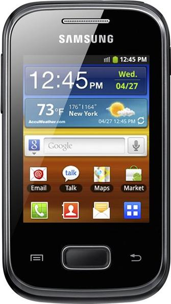 Samsung Galaxy Pocket GT-S5300 Actual Size Image