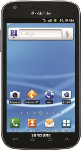 Samsung Galaxy S II T989 Actual Size Image