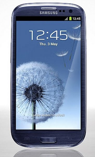 Samsung Galaxy S III Actual Size Image