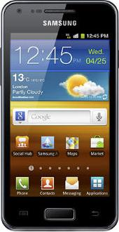 Samsung Galaxy SII Lite Actual Size Image