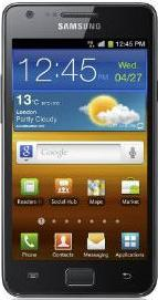 Samsung I9100 Galaxy S II Actual Size Image