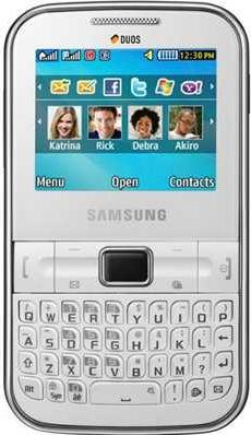 Samsung Punch GT-C3222 Actual Size Image