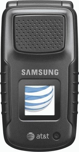 Samsung Rugby Black Phone (AT&T) Actual Size Image