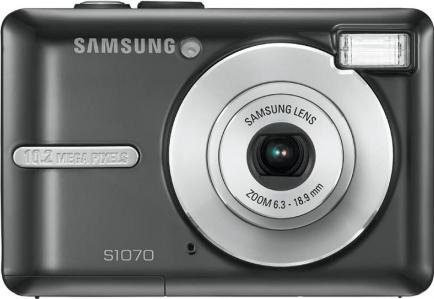 Samsung S1070 digital camera Actual Size Image