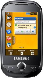 Samsung S3650 Corby Actual Size Image