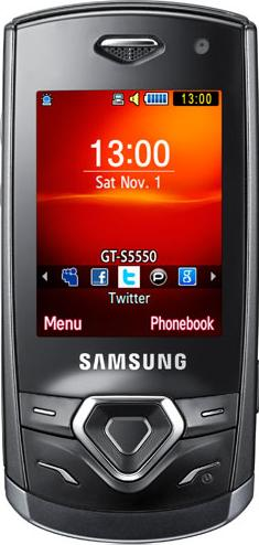 Samsung S5350 Shark Actual Size Image