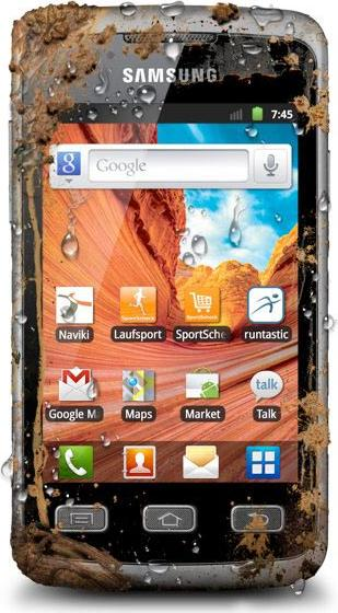 Samsung S5690 Galaxy Xcover Actual Size Image