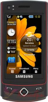 Samsung S8300 UltraTOUCH Actual Size Image
