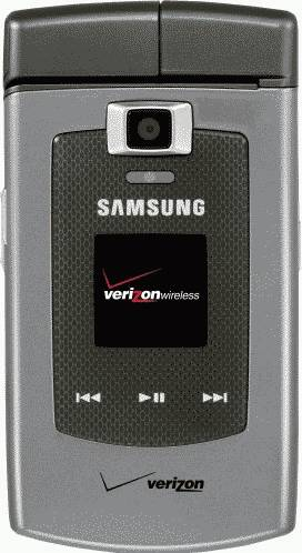 Samsung U740 Alias Silver Phone (Verizon Wireless) Actual Size Image