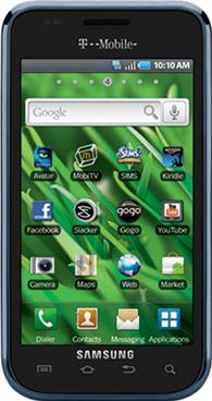 Samsung Vibrant (Galaxy S) Actual Size Image