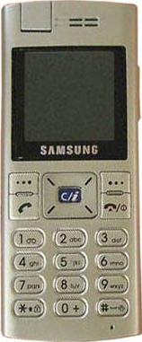 Samsung X610 Actual Size Image