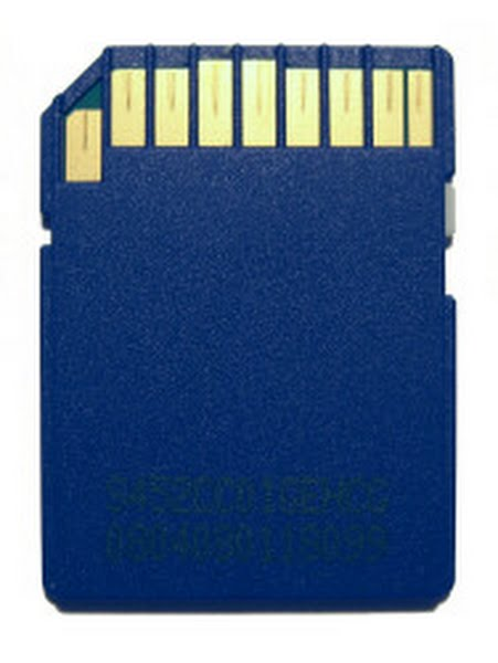 SD card - Back Actual Size Image