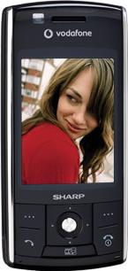 Sharp 880SH Actual Size Image