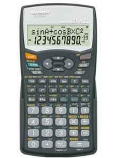 Sharp El-531w Calculator Actual Size Image