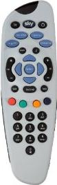 Sky TV remote Actual Size Image
