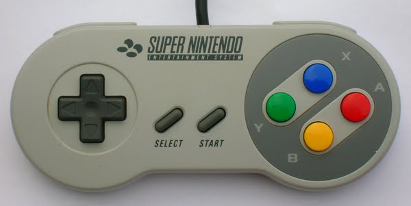 SNES Controller Actual Size Image