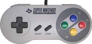 SNES gamepad Actual Size Image