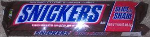 Snickers giant 16 oz bar Actual Size Image