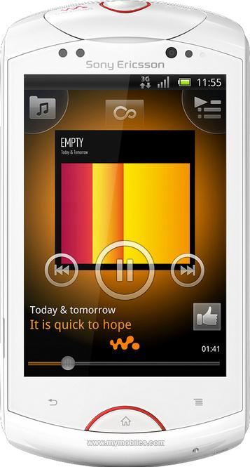 Sony Ericsson Live with Walkman WT19i Actual Size Image
