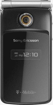 Sony Ericsson TM506 Black/Chrome/Amber Phone (T-Mobile) Actual Size Image