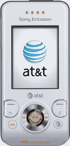 Sony Ericsson W580i White Phone (AT&T) Actual Size Image